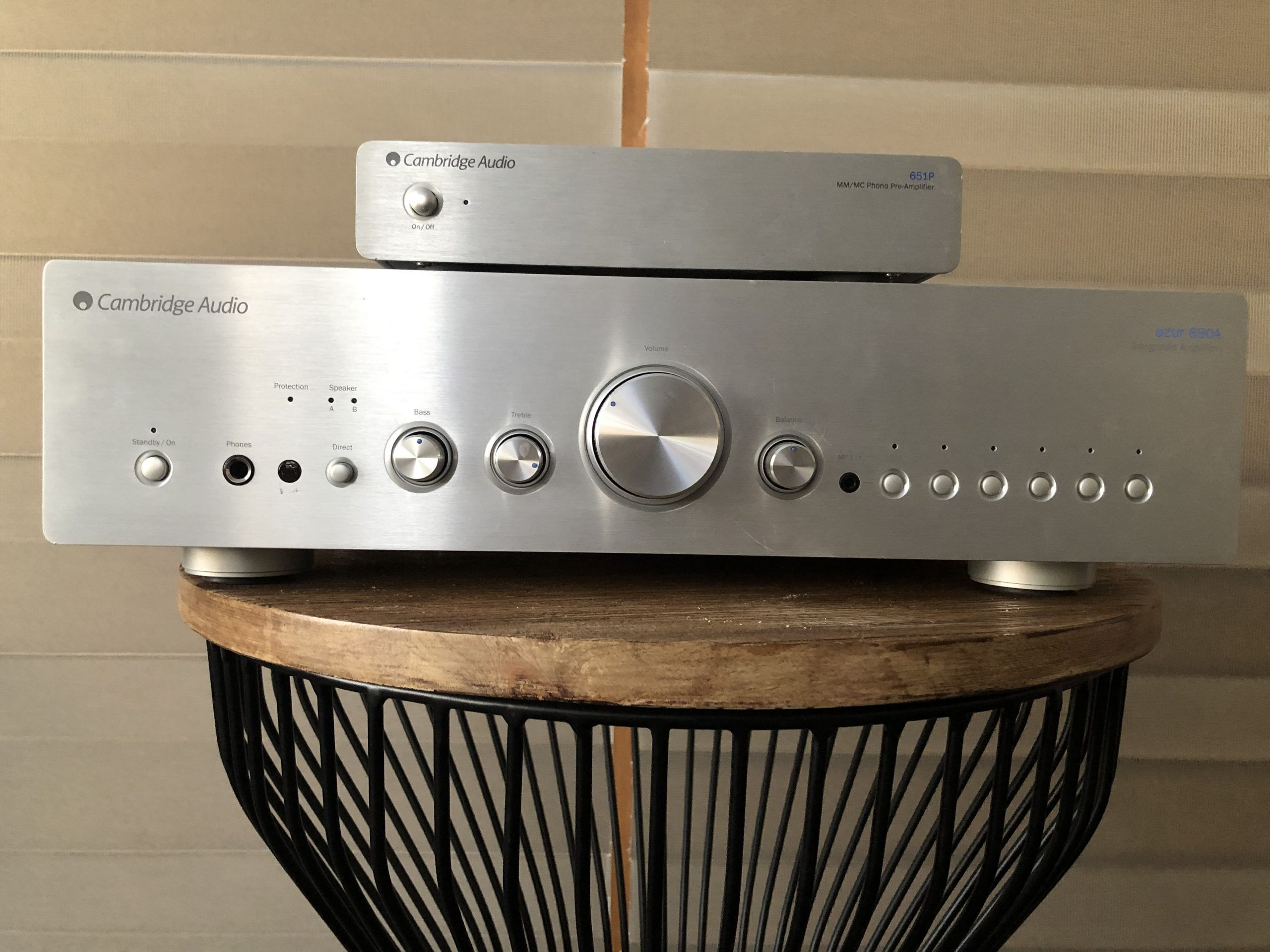 Cambridge Audio Azur 650A Integrated Amp with Azur 651P Phono Preamp